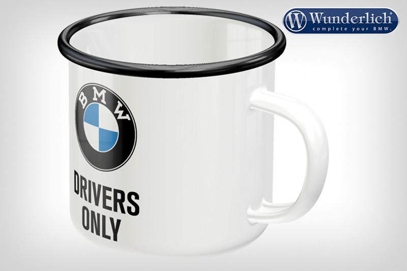 Emaille-Becher »BMW Drivers Only« von Nostalgic Art