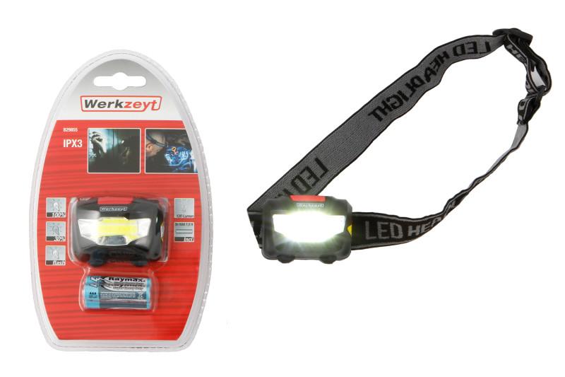LED-Stirnlampe wasserfest IPX3 120 Lumen