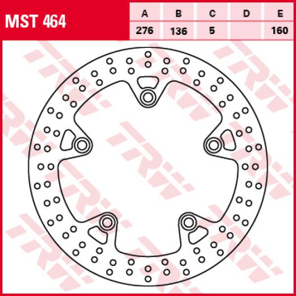 TRW brake disc MST464 standard