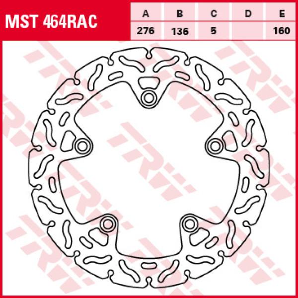 TRW brake disc MST464RAC