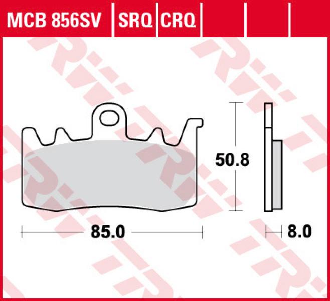 TRW Road & Track sintered brake pads MCB856SRT
