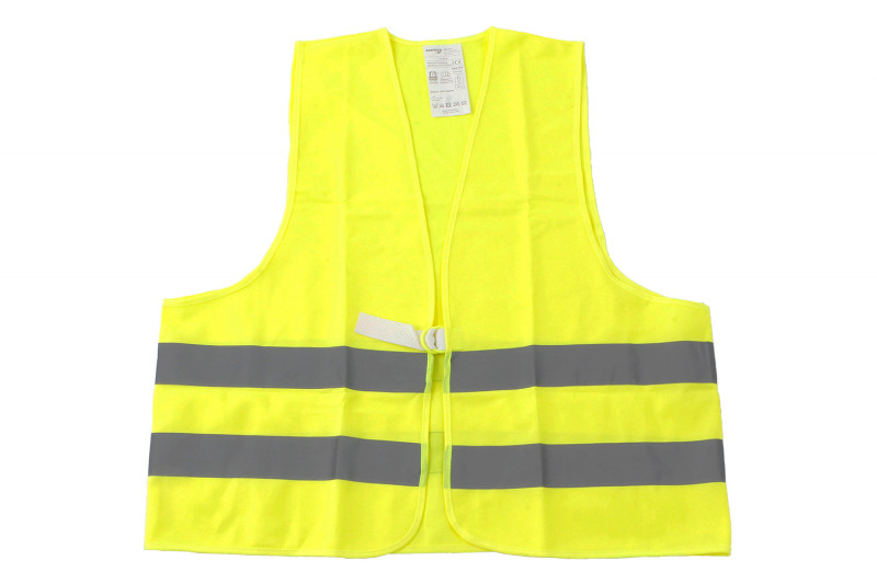 Neon yellow hazard vest