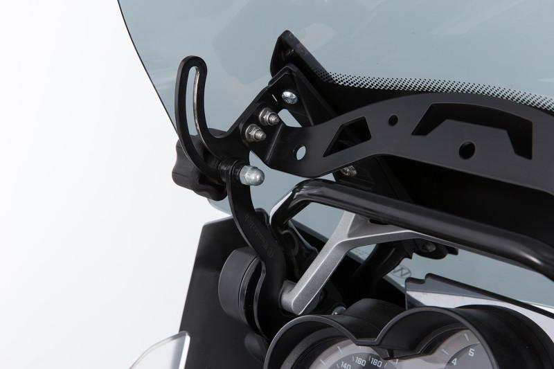 Wunderlich windshield reinforcement for orig or accessory windshield