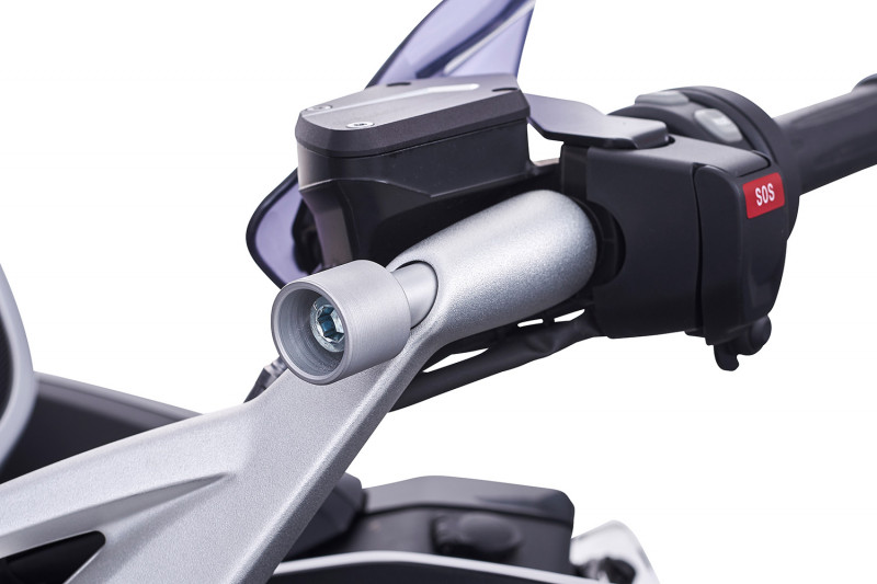 Wunderlich adapter for SP-Connect on stub handlebars