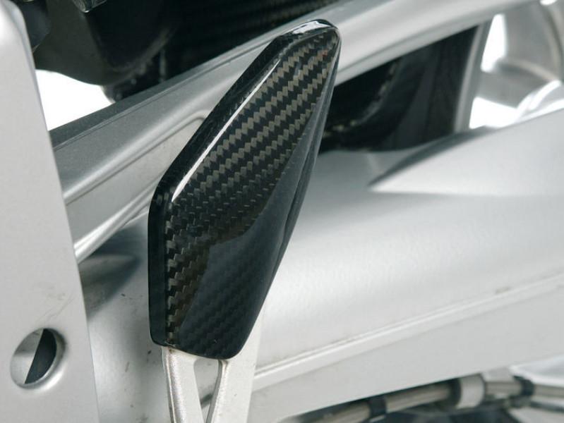 Carbon fibre heel guard left