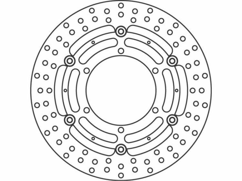 TRW Lucas brake disc front