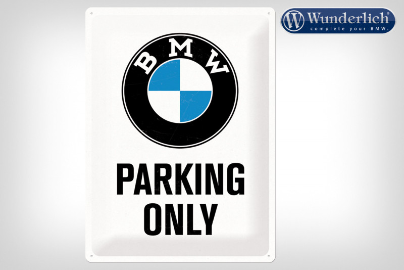 Plaque en tôle »BMW Parking Only« 30 x 40 cm - Nostalgic-Art