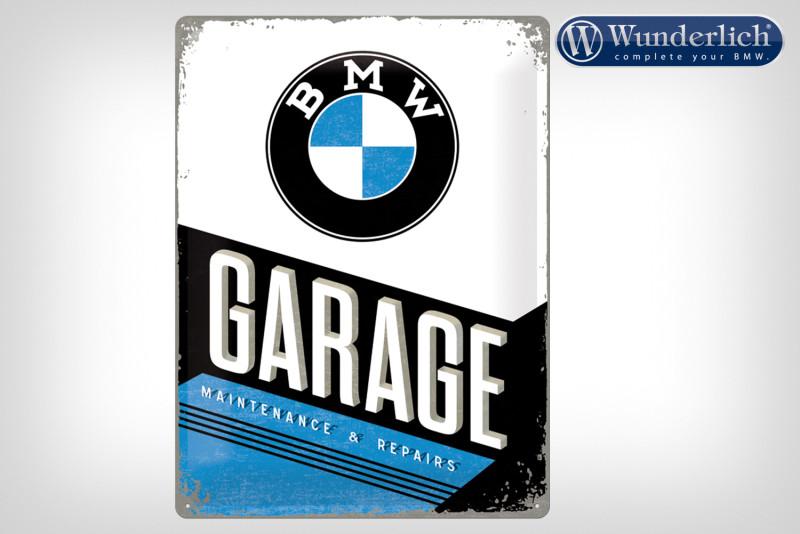Plaque en tôle »BMW Garage« 30x40cm - Nostalgic Art