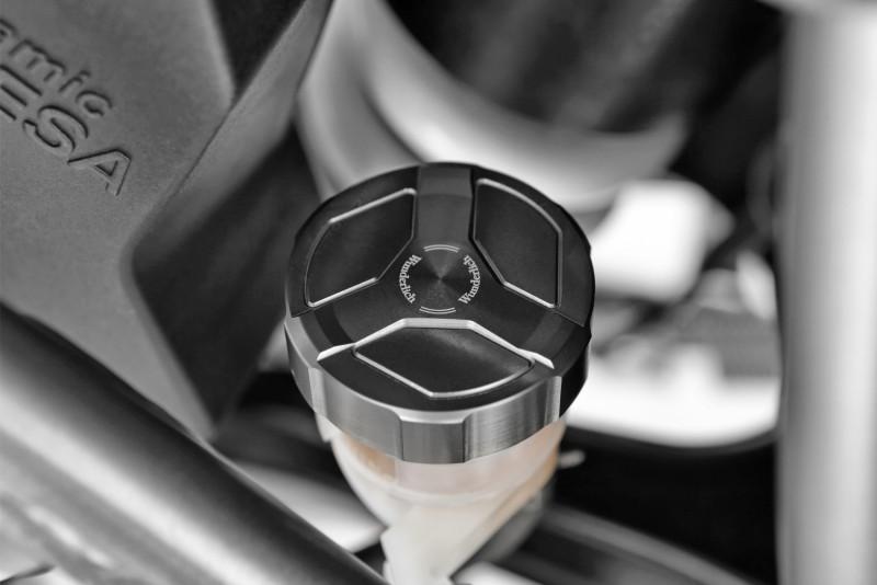 Couvercle en aluminium de réservoir de liquide de frein arrière