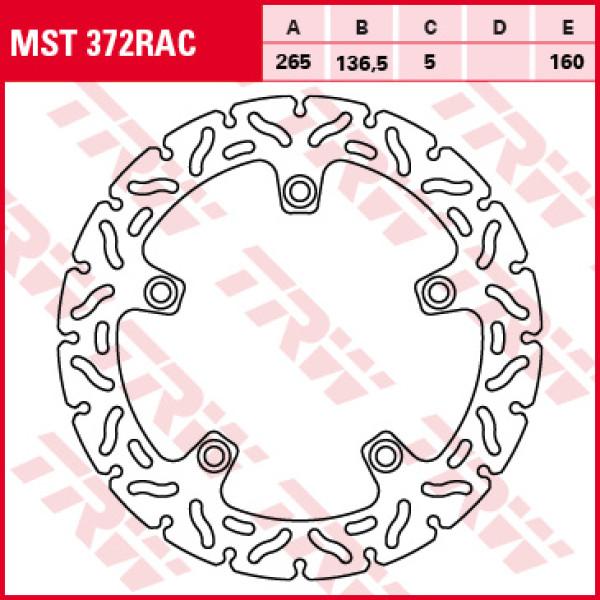 Disco per freni TRW MST372RAC
