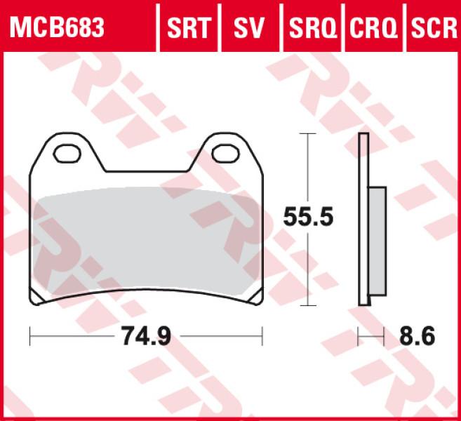 Guarnizioni per freni TRW Sinter Road & Track MCB683