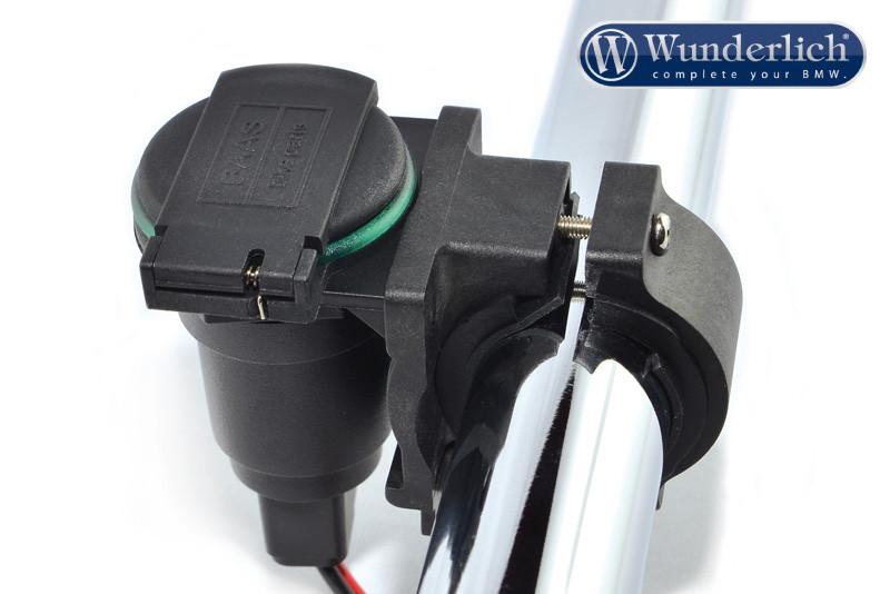 Supporto per accendisigari / presa di corrente sul manubrio