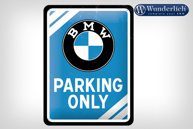 BMW Parking Only pannello in lamiera 15 x 20 cm - Nostalgic Art