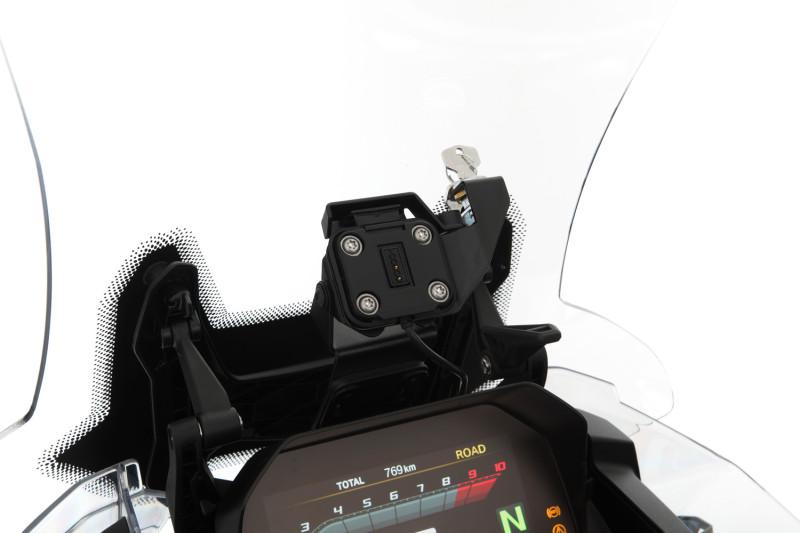 Kit antirrobo Wunderlich para navegador GPS Garmin Zūmo XT