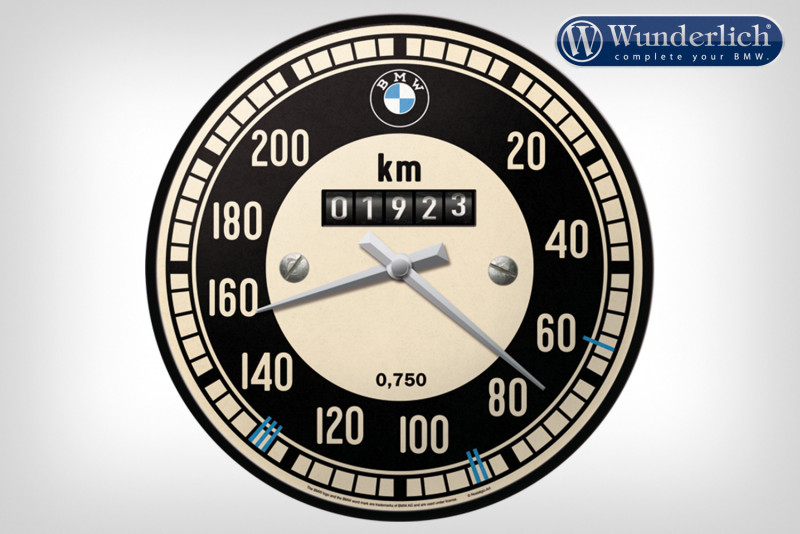 Reloj de pared BMW con motivo de velocímetro - Nostalgic Art