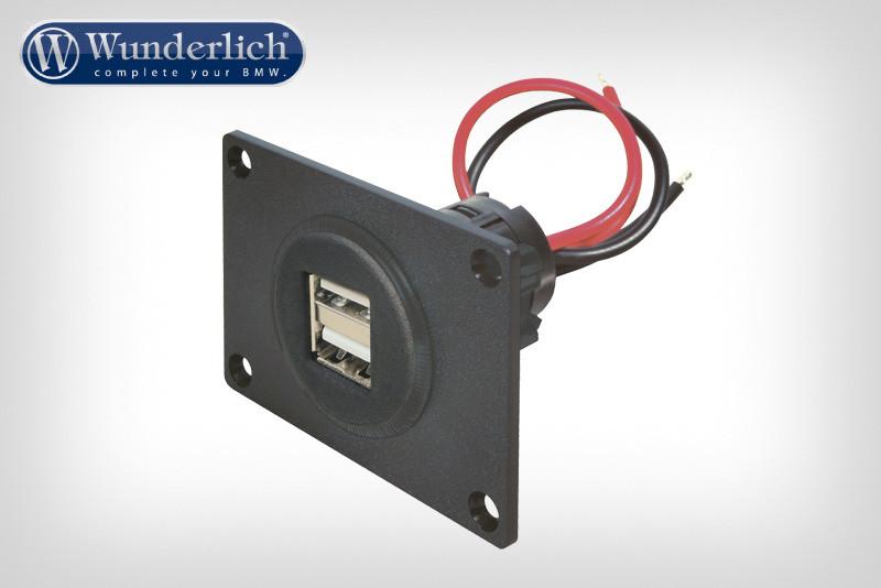 Alimentación USB doble enchufe 12V (2x2,500 mAH)