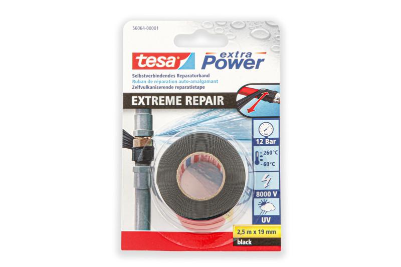 Cinta de reparación autovulcanizante tesa Extreme Repair 2,5m×19mm