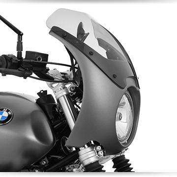 Wunderlich Lampenmaske an der BMW R nineT Scrambler