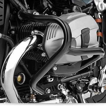 Wunderlich Sturzbügel an der BMW R nineT Racer